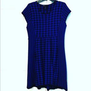Lane Bryant Houndstooth Mid Dress Size 18